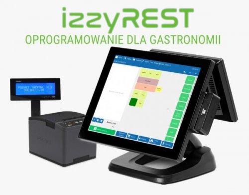 Oprogramowanie dla gastronomii izzyREST z drukarką fiskalną online Posnet Thermal